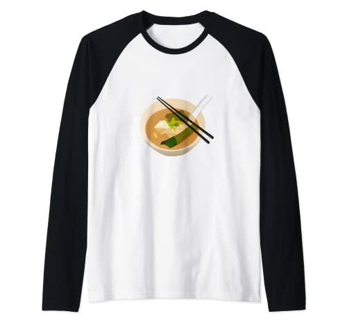 Sopa de Miso Camiseta Manga Raglan