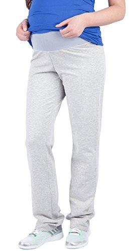 Mija – Pantalons de maternité décontractés tr?s confortable Pantalons Pantalon de sport 1010 (EU 42, Clair Gris)