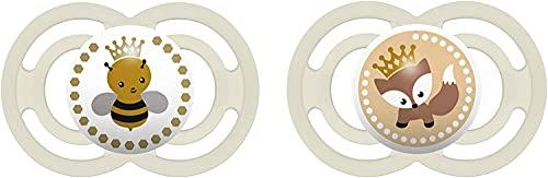 MAM Babyartikel 99953600 - Lot de 2 chupetes, sin BPA, 6-16 meses, 1 paquete [colores aleatorios], neutro
