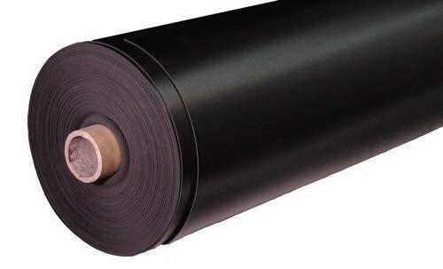 PVC Teichfolie schwarz; 0,5 mm, 4 m breite Abschnitt; preis pro qm