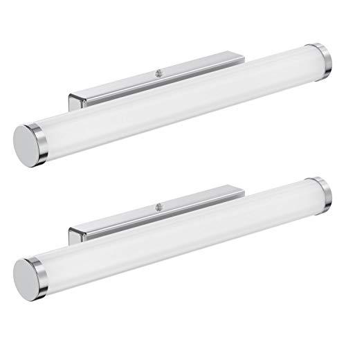 ledscom.de LED Bad-Leuchte LESI, 40cm Bad-Lampe, 12W, 1100lm, warm-weiß, 2 Stk.