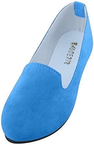 Frauen Damen Slip On Flache Schuhe Sandalen Casual Ballerina Schuhe Schwangere Frau Schuhe,Hellblau,EU 42