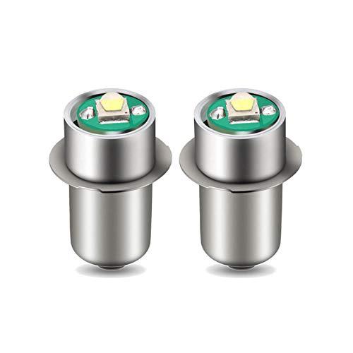 Generic Lot de 2 Ampoules LED P13.5S 3 W pour Lampe Torche de Travail DC 3-18 V Blanc