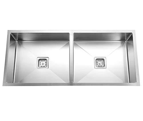 CROCODILE® 304 Double Bowl Steel Handmade Sink (45x20x10 & Other Sizes)
