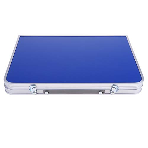 perfk Tragbarer Klapptisch Aluminium Reisetisch Falttisch Gartentisch - Blau
