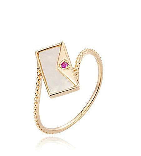 Rubyia Rose Gold Ring 18 carat 0.011ct Fuchsia Ruby Round with Envelope Bag Size M½