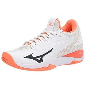 Mizuno womens Impulse Tennis Shoe , White-Fiery Coral , 7 medium US