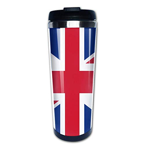 Trushop Taza de café Union Jack Portable Coffee Cup Travel Mug 13.5 Oz Graphic Travel Cup