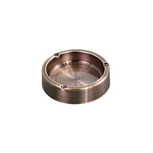 KMDJ Caja de cobro de hollín Caja de Metal Cenicero de Metal Acero Inoxidable Resistente a Alta Temperatura Resistente a los ceniceros Redondos