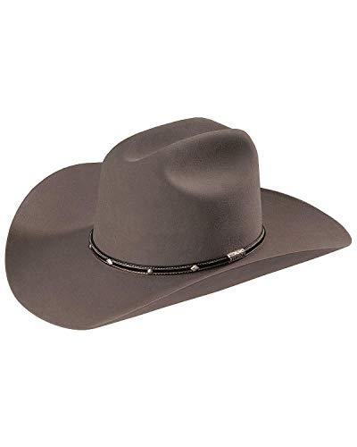 Stetson Men's Angus 6X Fur Felt Cowboy Hat Grey 7 1/2