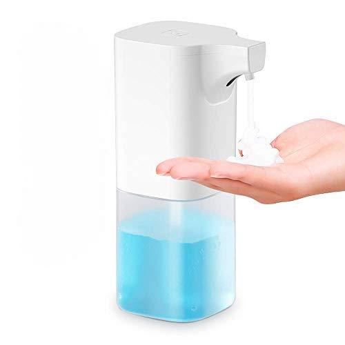 Wimaha Automatischer berührungsloser Seifenspender mit Infrarot-Bewegungssensor IPX4 Wasserdichter Flüssigseifenspender für Kithcen Badezimmer und Hotel Weiß 350ML