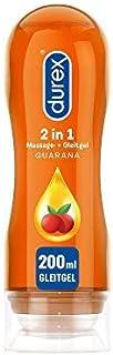 Durex Smörjmedel Play 2-i-1 Massage Guarana – Vattenbaserat glidmedel med stimulerande guarana extrakt för sensuella kärle...