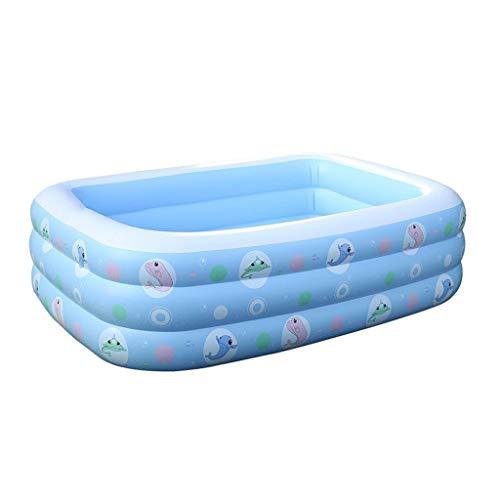 JCCOZ URG - Piscina de aire para niños, material de PVC grueso resistente al desgaste resistente al frío apto para exteriores, jardín, patio trasero portátil 200x155x60 cm URG