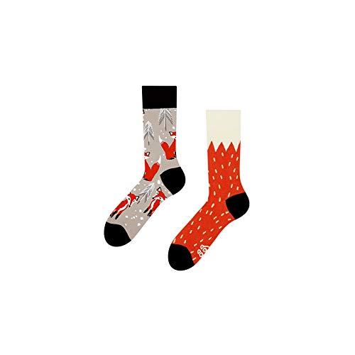 Good Mood Fuchs Buntes Design-Geschenk Socken 1 Paar, Mehrfarbig, UK9-12/EU43-46/US10-12