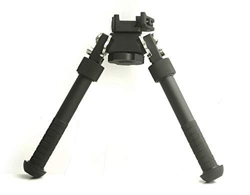 Noga Sniper V8 Atlas Zweibeinbein mit Schnellmontage 6,5-9,5 Zoll Black Mount Picatinny Schiene Zweibeinstamm für Gewehr