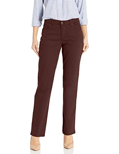 LEE Women's Relaxed Fit Straight-Leg Jean, Chestnut, 4