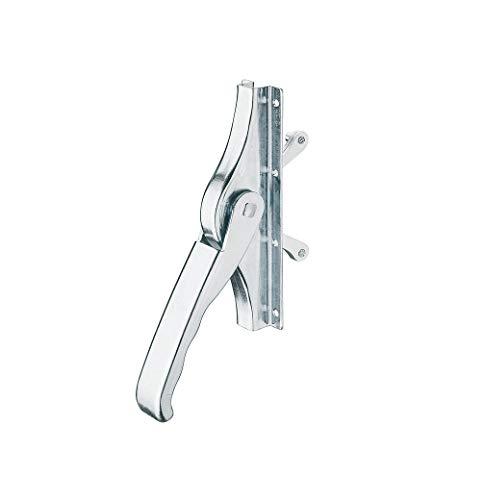 JUVA Metall Tor-Treibriegel mit beidseitiger Verriegelung - Torriegel für Stangen-Profil 16 x 16 mm | Türtreibriegel Hub 30 mm | MADE IN GERMANY | 1 Stück - Torverschluss für Gartentore & Metalltüren