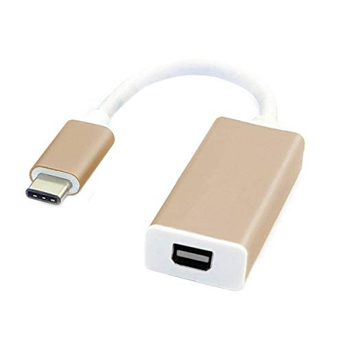 CY USB-C USB 3.1 Type C to Mini DisplayPort DP 1080p HDTV Adapter Cable with Gold Aluminium Case for 2015 New 12 Inch MacBook