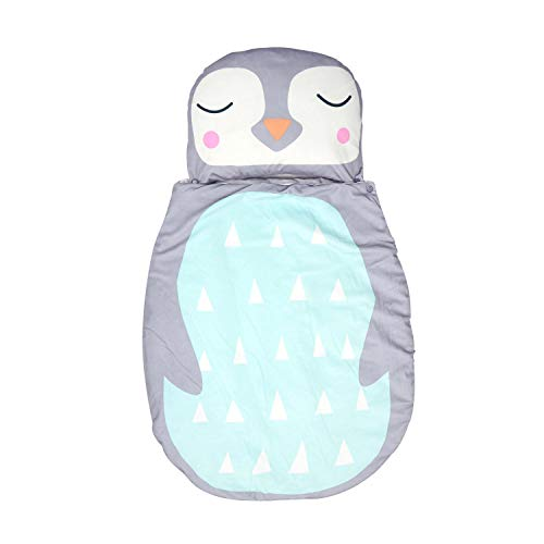 Schlafsack Baby und Neugeborene Baumwolle Decke 110 * 60cm Babyfußsack Baby Fußsack Babyschale Kuschelsack Babydecke Kinderwagen Swaddle, Pinguin Muster