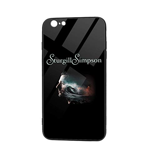 EU Sturgill Simpson iPhone 6s Case,iPhone 6 Case, Tempered Glass Back Cover Pattern Design + TPU Shock Absorption Bumper Protective Case Compatible for iPhone