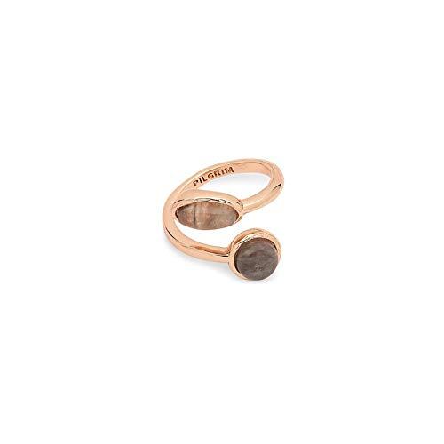 Pilgrim Ring Wendell- Rose-Gold plattiert, Adler Auge
