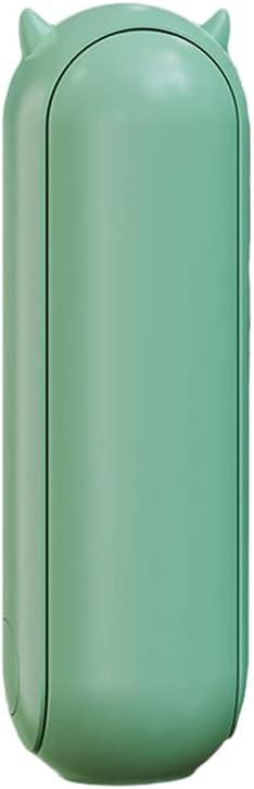 Xinwcang Mini USB Ventilador de Mano con 1500mAh Batería Recargable, Ajustable 2 Velocidades portátil Eléctrico Ventiladores para Oficina, Hogar, Viajes - Verde,3.56 * 3.76 * 10.84cm