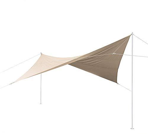 Regenschirme Sonnenschirm Outdoor-Camping-Außensonnenschutz Regenschutz Eindickung Exklusive Villa Double-Layer-Zelt