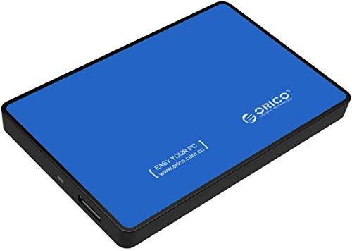 ORICO 2.5\'\' USB 3.0 Festplattengehäuse für 9.5mm und 7mm 2.5 Zoll SATA SSD HDD mit USB 3.0 Kabel, Werkzeuglose Externes Festplatten Gehäuse