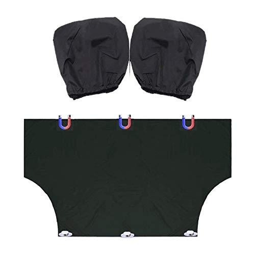 YIBOKANG Cubierta de Parabrisas del Coche Cubierta de Nieve Frost Guard Sun Shade UV Ray Sun Visor Protector Pefect Fit para la mayoría de los Coches