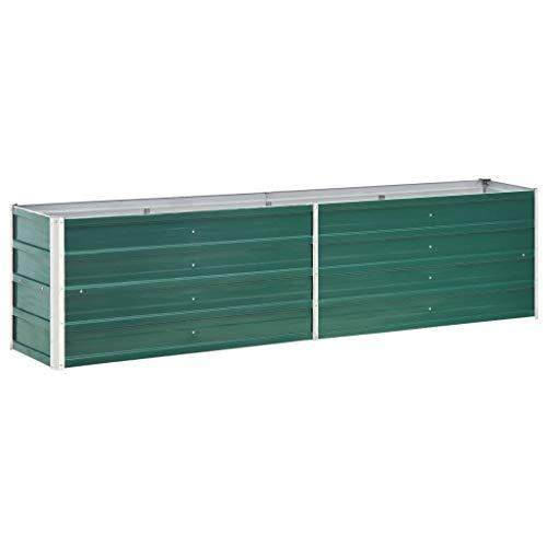 vidaXL - Jardinera de Acero galvanizado (240 x 40 x 45 cm),...