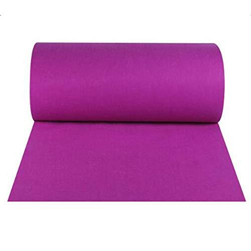 Alfombra Desechable Fucsia Celebración Alfombra Exposición Alfombra Ceremonia De Bodas Disposición De Fondo For Bodas Alfombra JINRONG (Color : Purple, Size : 1 * 80m)