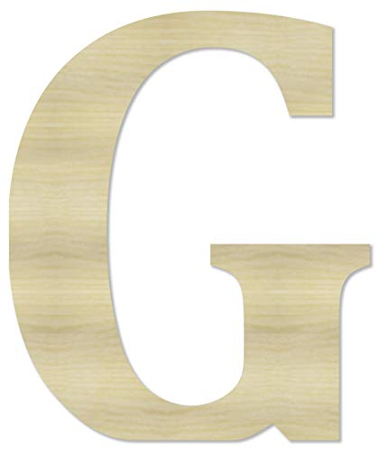 Wooden Letters & Numbers - Wooden Letter G - 4' Tall x 1/4' Thick.