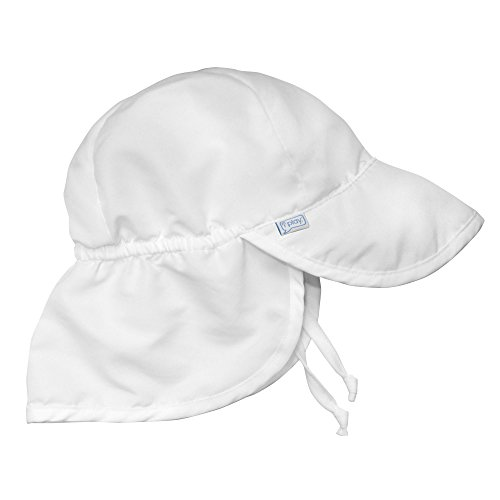 i play. by green sprouts Iplay Flap Hat-White-0-6 Months