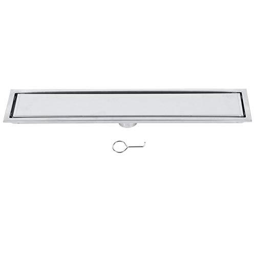 Duschrinne Edelstahl Bodenablauf Linearer Duschablauf Badezimmer Drainage System für Badezimmer Küche (50cm)