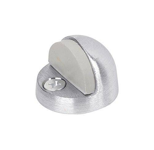 Satin Chrome Cast Tell Manufacturing DT100033 Low Style Floor Stop