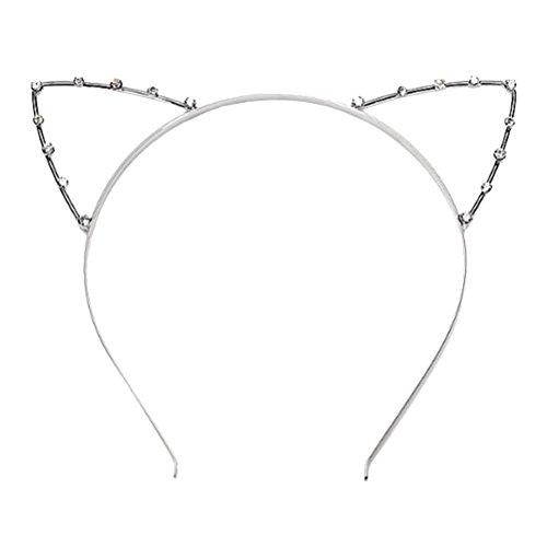 ROSENICE Stirnband Katzenohren Form mit Strass für Maskerade Weihnachten Party