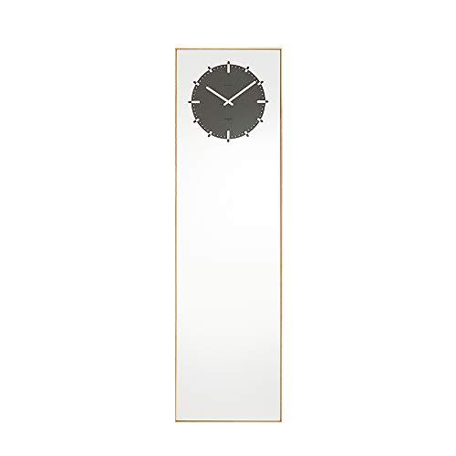 Leff Amsterdam - staande klok, staande spiegel met klok - Inverse - kleur: zwart