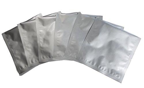 "Mylar Bags - 5 Mil 8""x8"" 1 Quart - Genuine Odor-Proof Aluminum Foil-Lined Bag for Long Term Food or Herb Storage (50)"