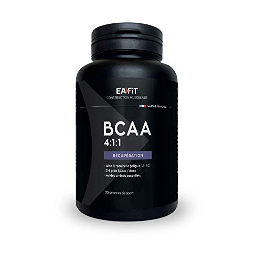 EAFIT BCAA 4.1.1-120 Gel Prog 20 Training Sessions - Muscle Growth - Whey Protein - Rapid Absorption - Amino Acids and Digestive Enzymes - High Amino Complex - Anti-Doping Certified from Eafit