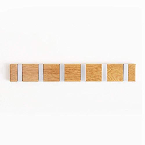 Kapstokken Kapstok Hangers massief houten wand gemonteerde Opvouwbare Hook Up Moderne Simple Slaapkamer European Style (Kleur: 4 haken) LQH (Color : 6 Hooks)