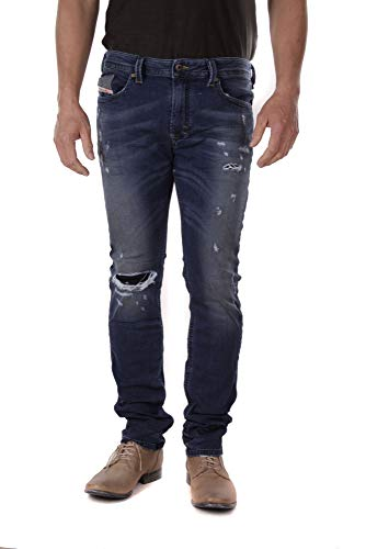 Diesel Herren Jeans Hose Thavar-NE JoggJeans Mens Jeanshose 00S5BL R266L - Sweat Jeans - W28