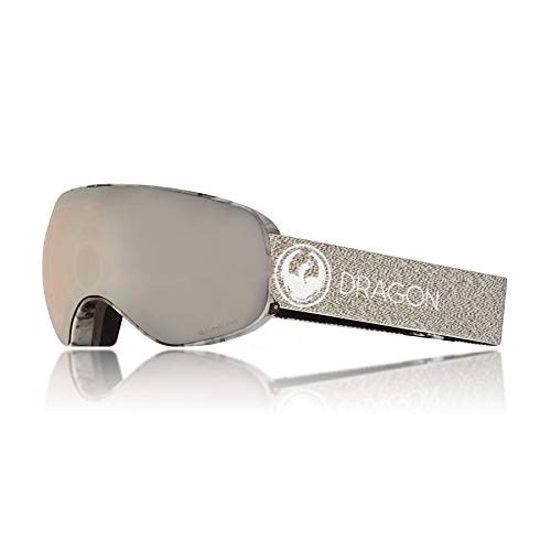 Dragon Alliance X2S Mill Snow Goggles for Men/Women, Silver Ion
