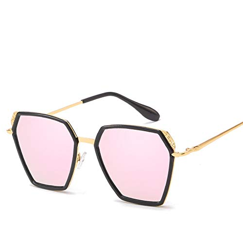 Jihufwejf Sportsonnenbrille Big Box Mode Sonnenbrillen Spiegel Sonnenbrille Unisex polarisierten Sonnenbrillen (Size : Barbie Pink)