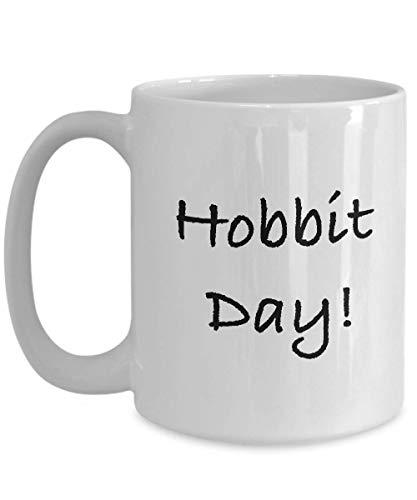 N\A Tazas de café con Leche de la Novedad del día del Hobbit, Divertidos extraños, decoración de la Taza, Regalo de Despedida para un compañero de Trabajo, Taza de cerámica de 11 oz