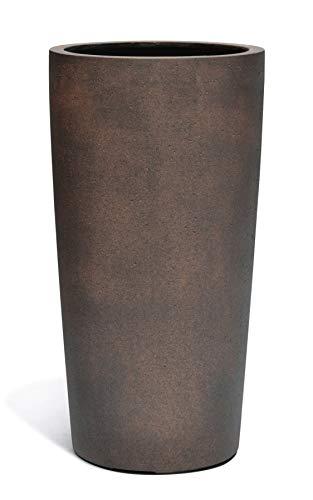 VAPLANTO® Pflanzkübel High Conus 70 Rost Braun Rund * 36 x 36 x 68 cm * Manufaktur Qualität * 10 Jahre Garantie