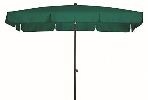 Doppler Absolut wasserdichter Gartenschirm Waterproof 260x150 UV-Schutz 80, Farbe dunkelgrün