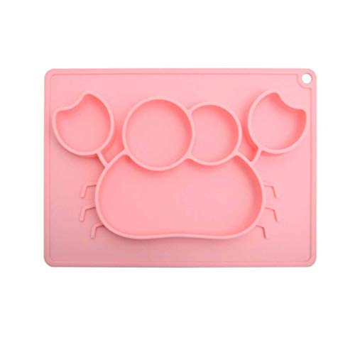 TBY Baby Silicone Placemat, Non Slip Silicone Feeding Bowl with Strong Suction, BPA-Free, Dishwasher and Microwave Safe - Best Baby Gift,Pink