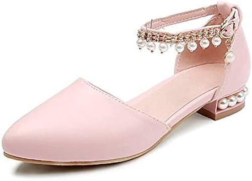 HommesGLTX Talon Aiguille Talons Hauts Sandales Nouveau 2019 Sandales D'été pour Femmes Talons Hauts Chaussures De Soirée Nuptiale Femme Taille 31-45 7696-5 3.5 Rose