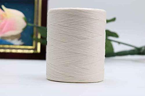 LINFA 180M / Roll Hilo de Rafia de algodón para Tejer a Mano Sombreros de Verano Bolsas De Punto Crochet Hecho a Mano Hilo de Hilo de Punto Artesanal, 13
