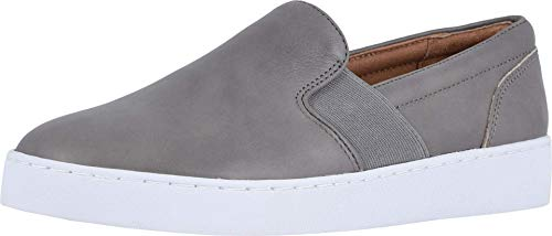 Vionic Women's Splendid Demetra Slip On Casual Shoe - Ladies Everyday Walking Shoes with Concealed Orthotic Arch Support Charcoal 8 M US